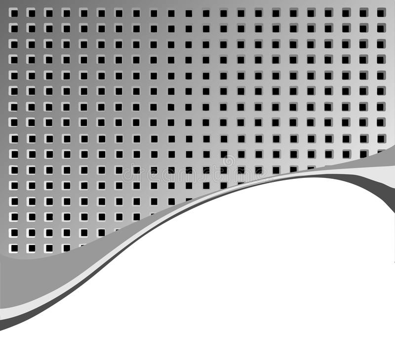 bakgrund holes metallisk yttersida royaltyfri illustrationer