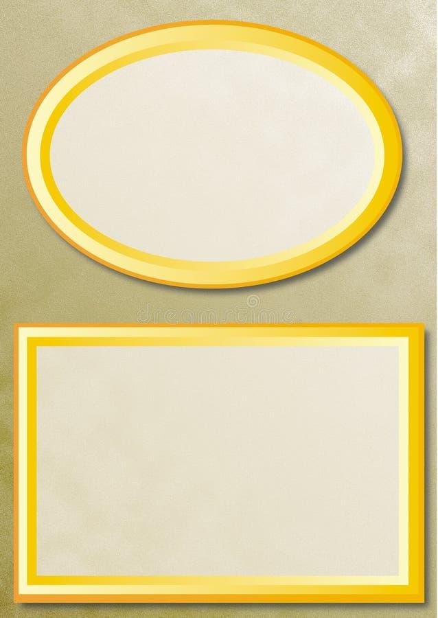 bakgrund inramniner guld två vektor illustrationer