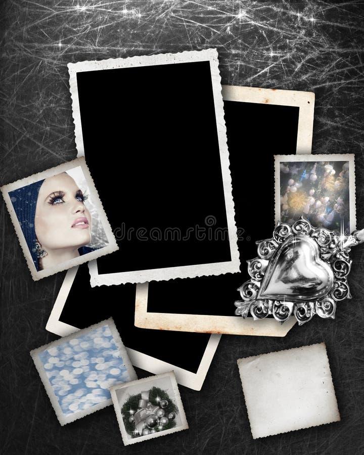 bakgrund inramniner silver arkivfoto