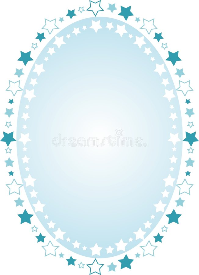 bakgrund inramninga ovala stjärnor vektor illustrationer