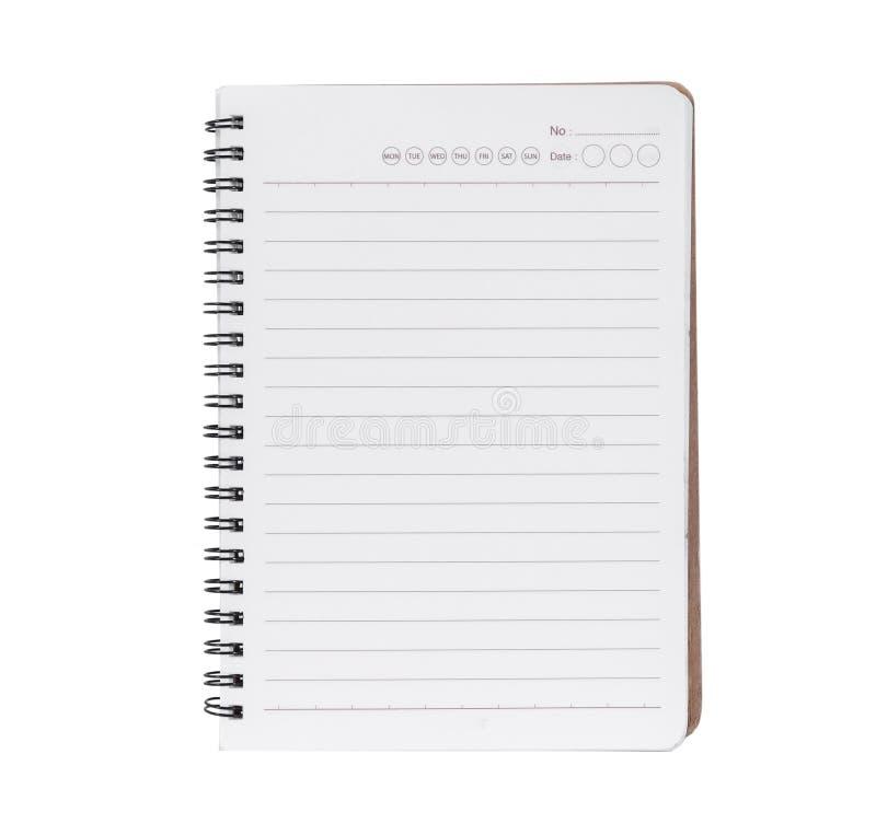 bakgrund isolerad anteckningsbokpennwhite kopieringsutrymme för bästa sikt, med urklippbanan royaltyfri foto