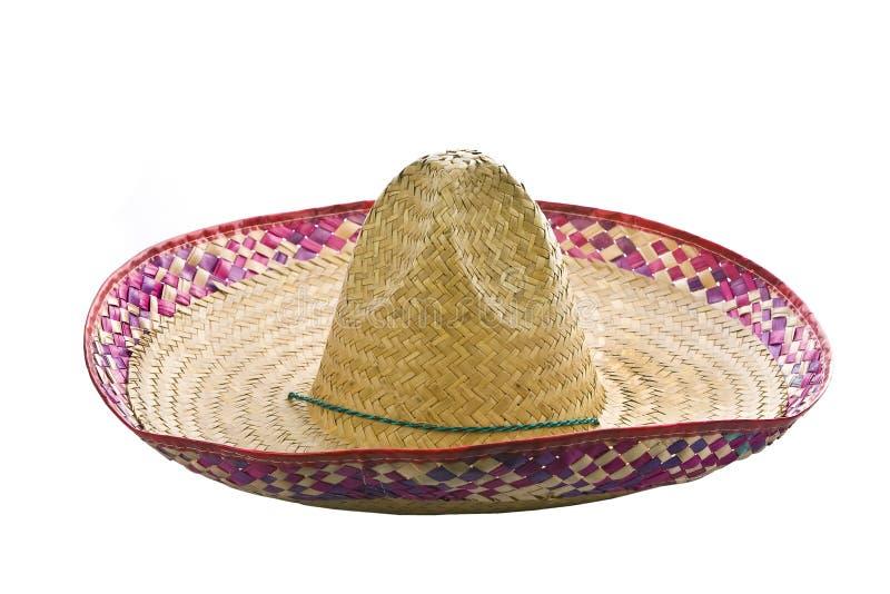 bakgrund isolerad mexikansk sombrerowhite arkivbild