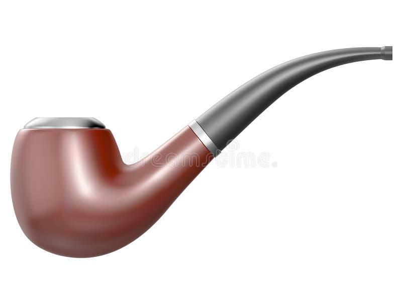 bakgrund isolerad rökande white för rør stock illustrationer