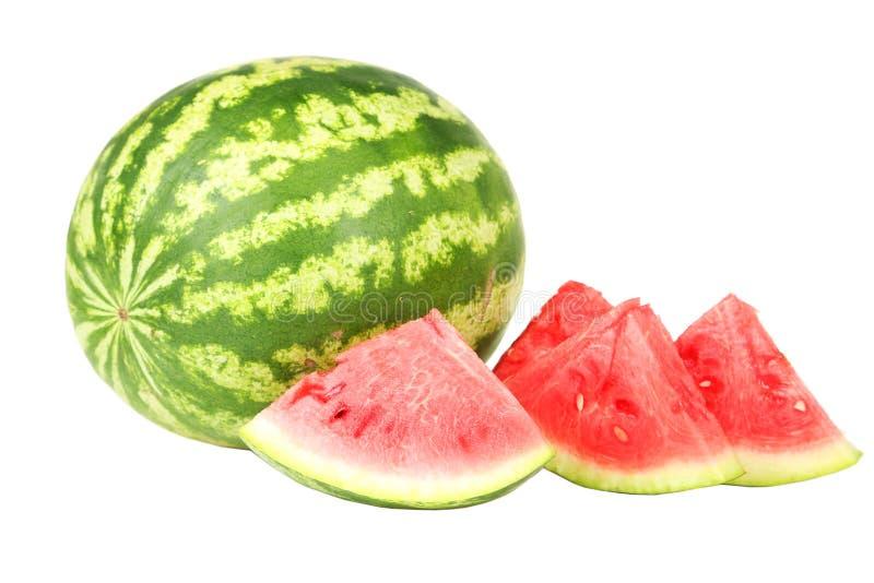 bakgrund isolerad vattenmelonwhite royaltyfria foton