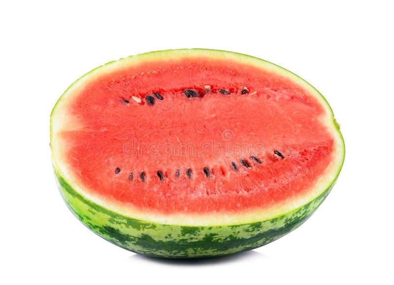 bakgrund isolerad vattenmelonwhite arkivfoton