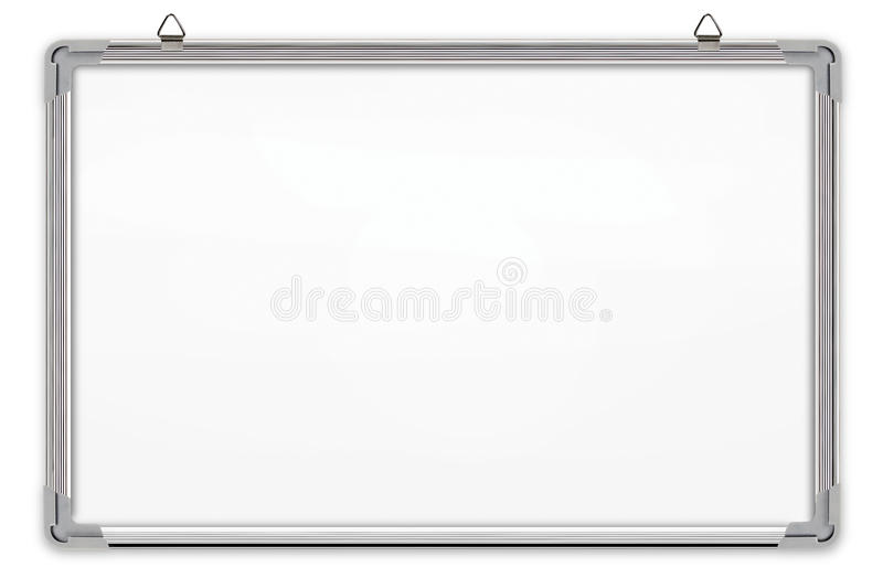 bakgrund isolerad vit whiteboard royaltyfri illustrationer