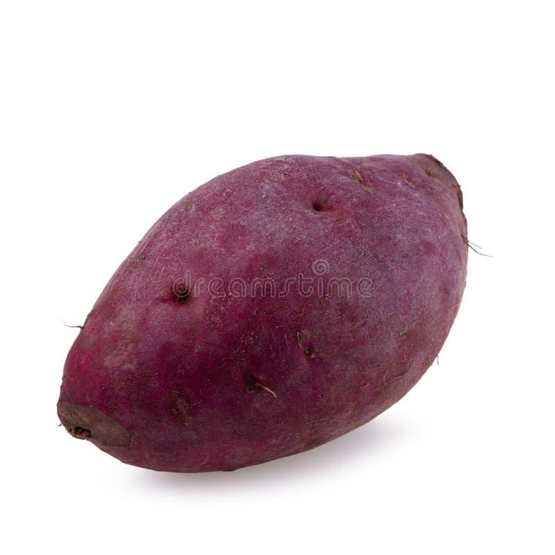 bakgrund isolerad white för potatis sött royaltyfria foton