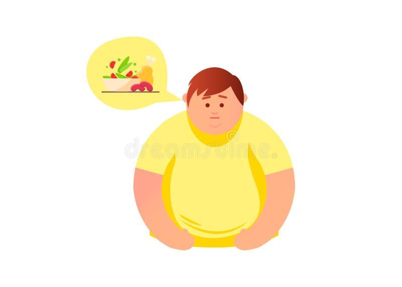 bakgrund isolerad white Hungrigt begrepp vektor illustrationer