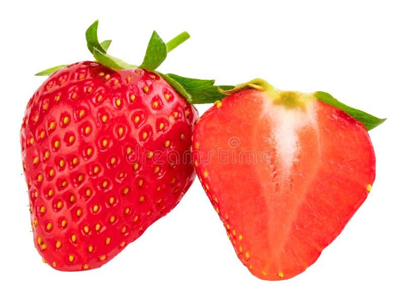 bakgrund isolerade jordgubbewhite Snabb bana arkivbilder