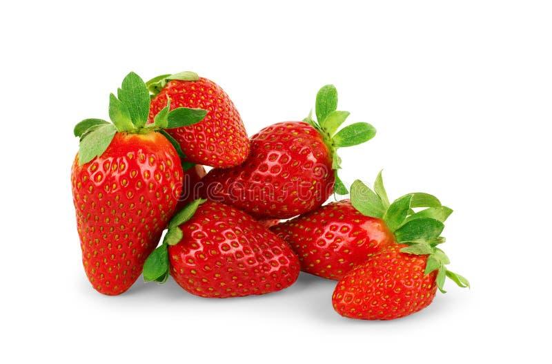 bakgrund isolerade jordgubbewhite Snabb bana royaltyfri foto