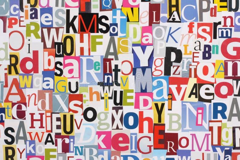 bakgrund letters tidskriften arkivfoton