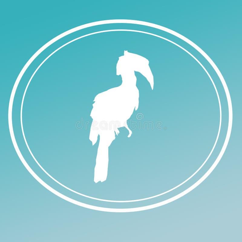Bakgrund Logo Banner f?r f?gelHornbillbild royaltyfri illustrationer