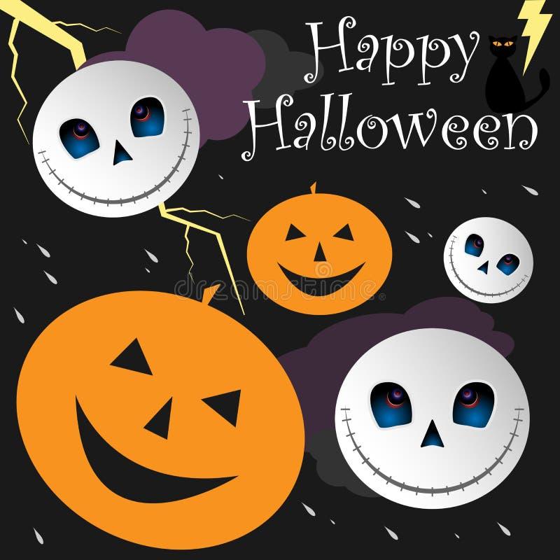bakgrund lyckliga halloween royaltyfri illustrationer