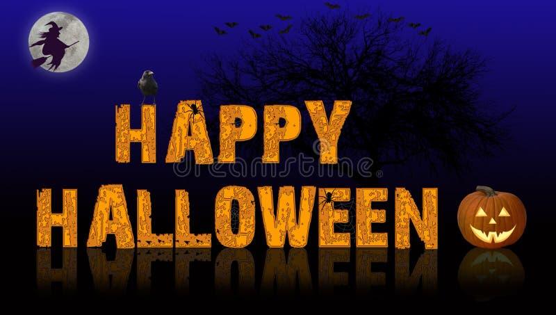 bakgrund lyckliga halloween stock illustrationer