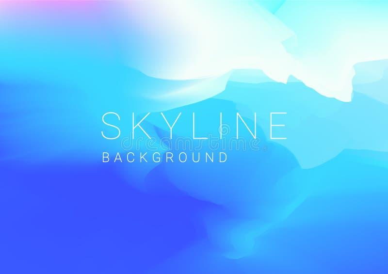 Bakgrund med abstrakt himmel i pastellfärgad färg vektor illustrationer