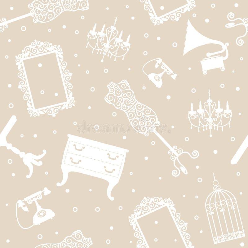 Download Bakgrund Med Antikt Möblemang Vektor Illustrationer - Illustration av mode, dressing: 27281172