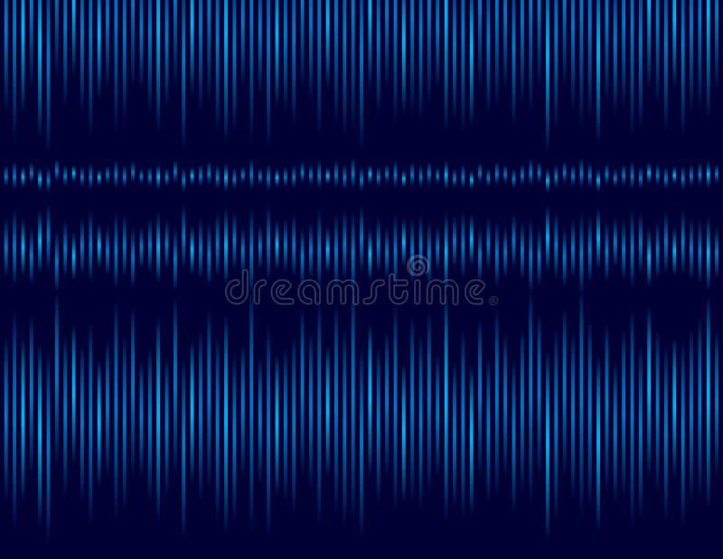Bakgrund med bl?a randiga linjer Abstrakt bl? bakgrund med gl?dande linjer R?kningsdesignmall f?r presentationen, stock illustrationer