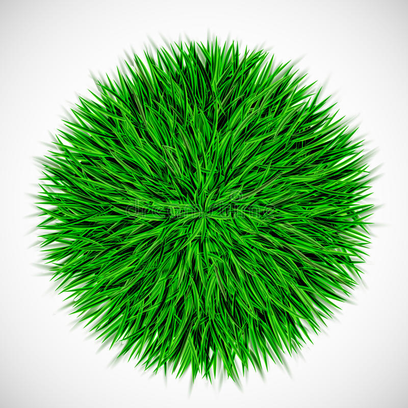 Bakgrund med cirkeln av gräs royaltyfri illustrationer