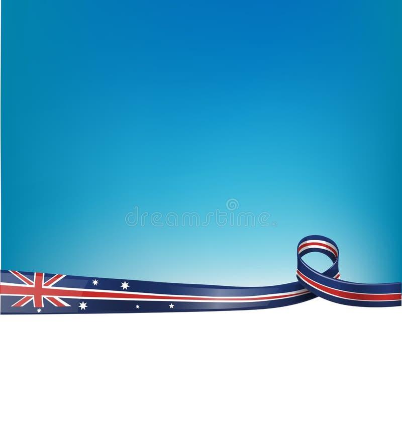 Bakgrund med den australiska flaggan vektor illustrationer