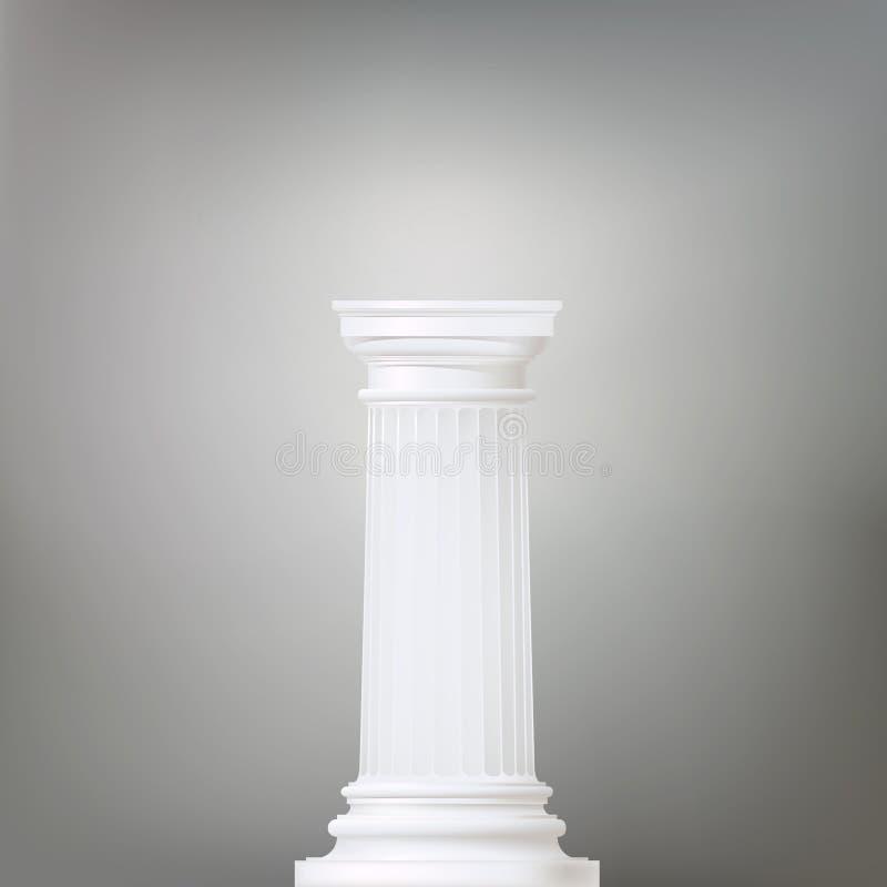 Bakgrund med den doric kolonnen vektor illustrationer