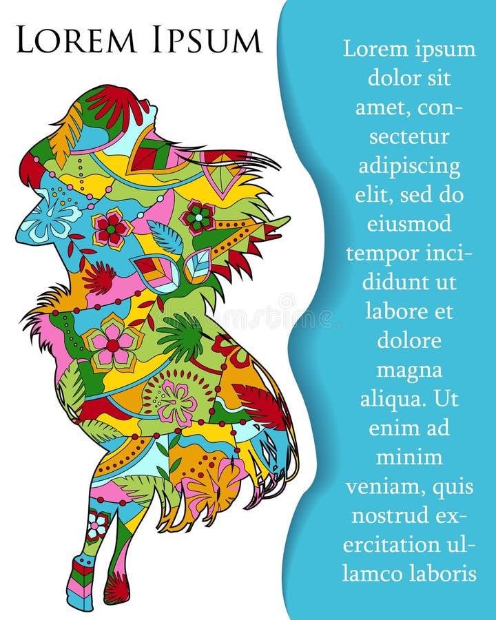 Download Bakgrund Med Den Hawaianska Flickan På Papper Och Ställe För Text Vektor Illustrationer - Illustration av kuvert, investera: 78732160
