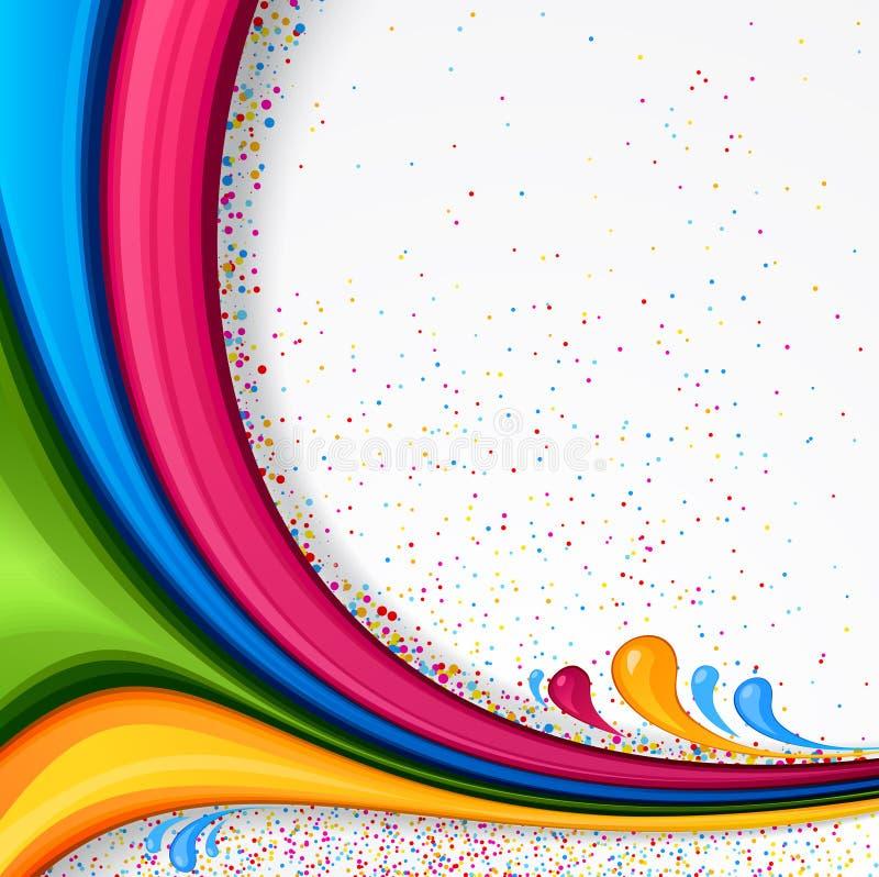 Bakgrund med färgremsor royaltyfri illustrationer