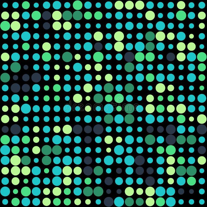 Bakgrund med f?rgrika gr?na cirklar f?r design vektor illustrationer
