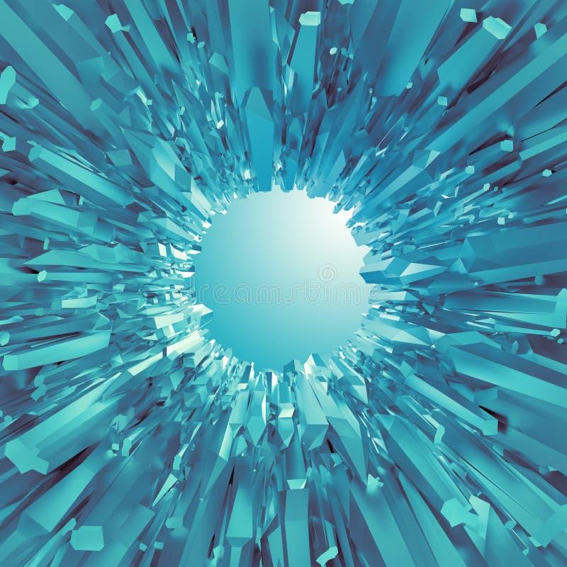 Bakgrund med för blåttkristall för arktisk 3d former vektor illustrationer
