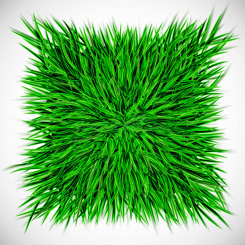 Bakgrund med fyrkanten av gräs royaltyfri illustrationer