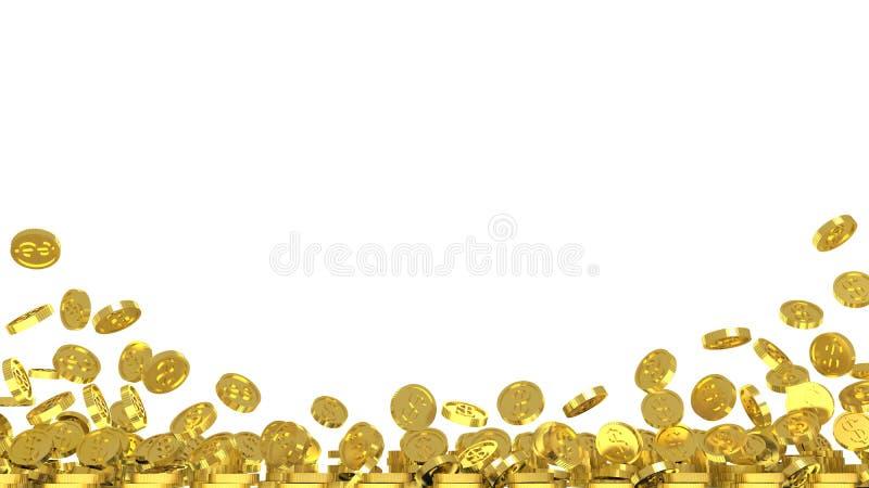 Bakgrund med guld- mynt royaltyfri illustrationer