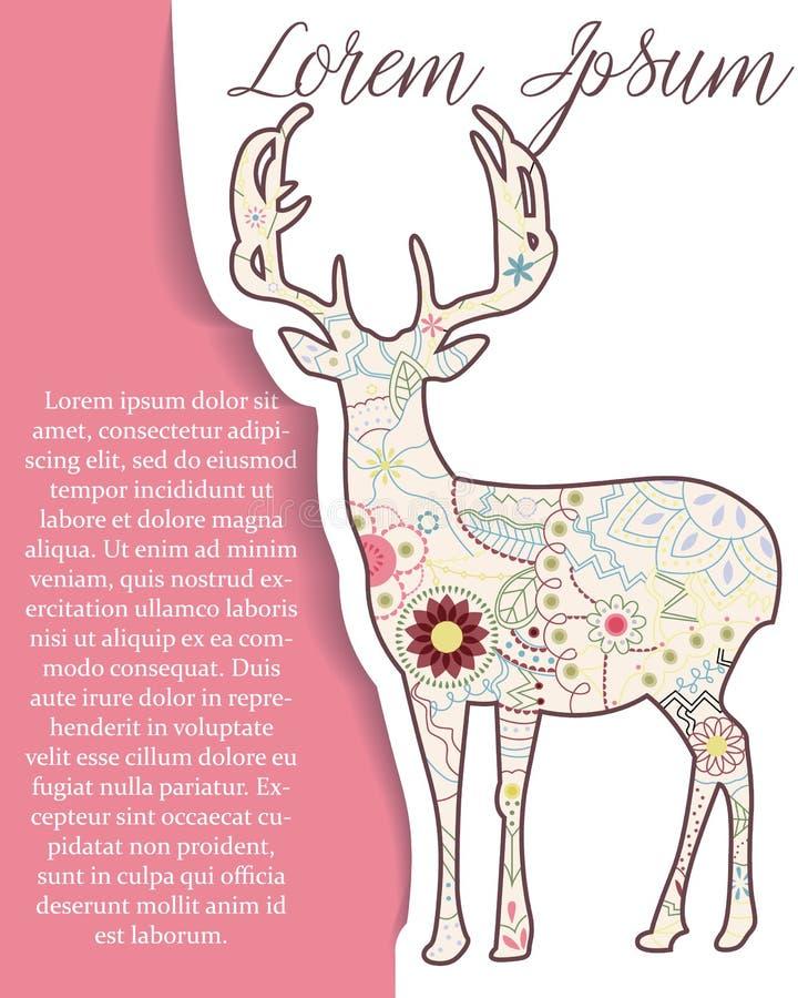 Download Bakgrund Med Hjortar På Papper Och Ställe För Text Vektor Illustrationer - Illustration av symbol, målat: 78728673