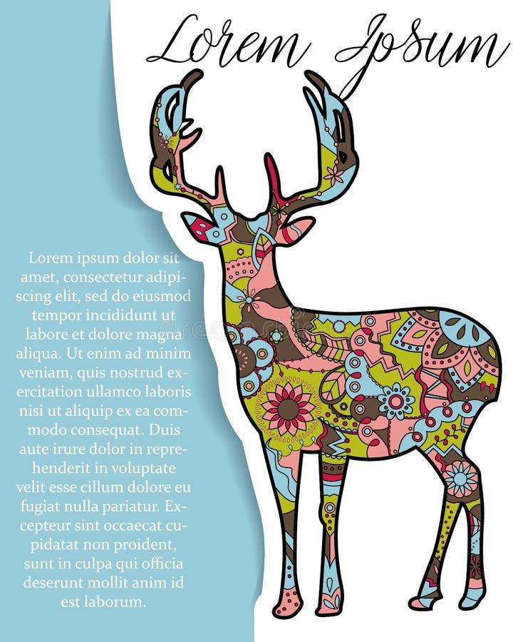 Download Bakgrund Med Hjortar På Papper Och Ställe För Text Vektor Illustrationer - Illustration av december, säsong: 78728771