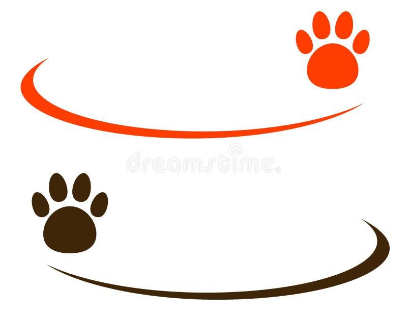 Bakgrund med husdjuret tafsar royaltyfri illustrationer
