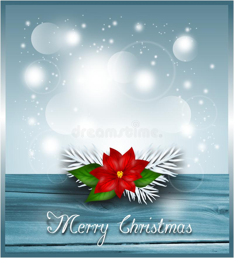 Bakgrund med julstjärnan royaltyfri illustrationer