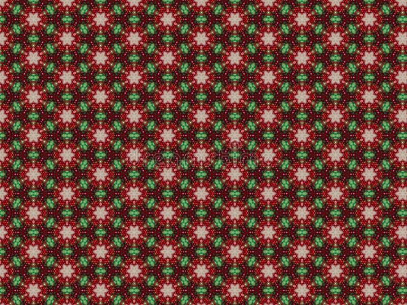 Bakgrund med konstgjord jul krans och leksaker och glitter royaltyfri illustrationer