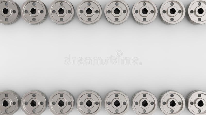 Bakgrund med kugghjul och kugghjul arkivfoton