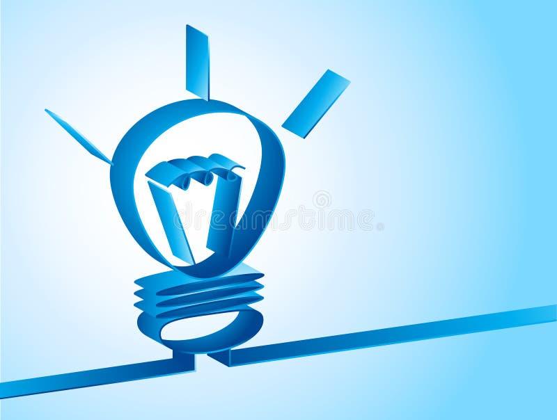 Bakgrund med lampan royaltyfri illustrationer