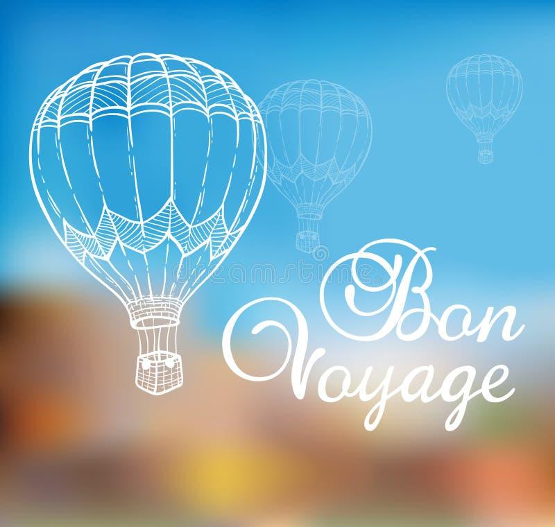 Bakgrund med luftballongen vektor illustrationer