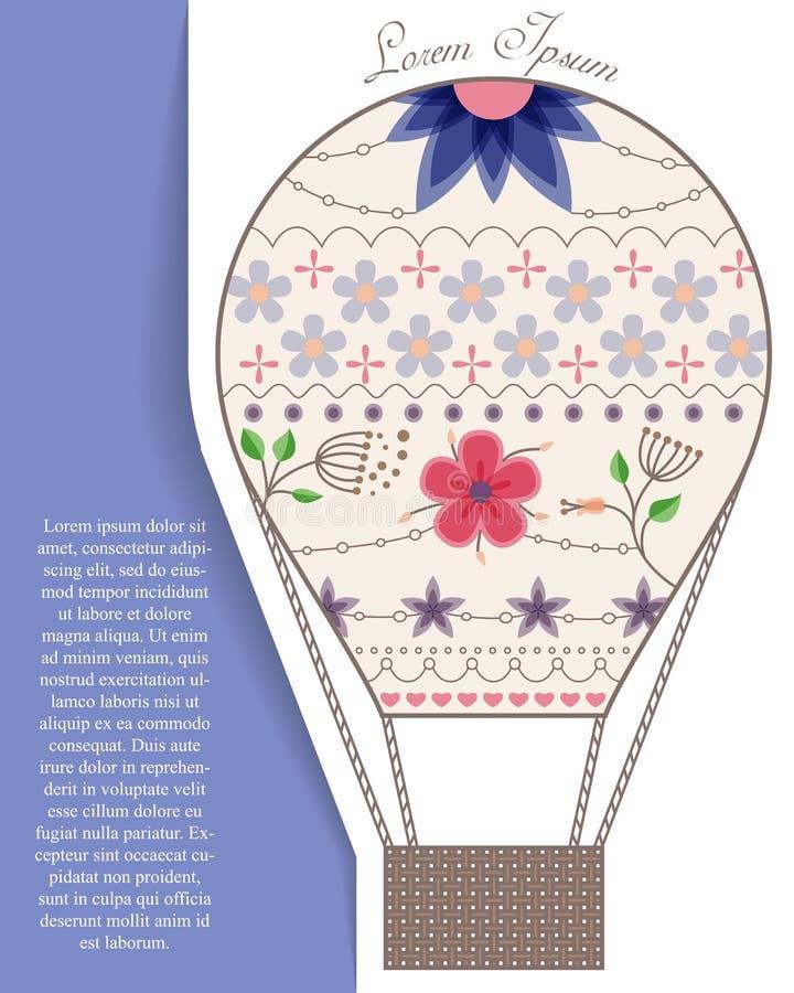 Download Bakgrund Med Luftballongen På Papper Och Ställe För Text Vektor Illustrationer - Illustration av vektor, papper: 78728631
