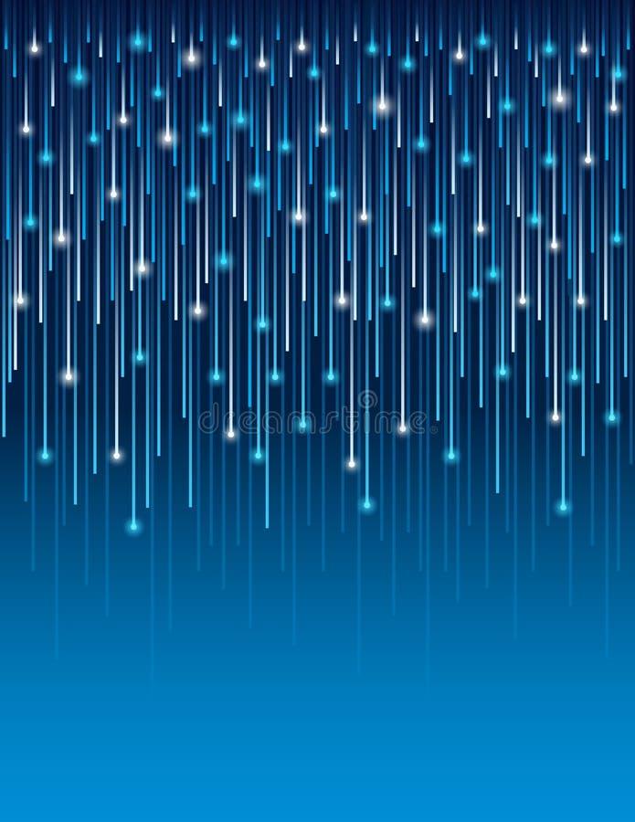 Bakgrund med optiska anslutningslinjer teknologi för fiber Abstrakt blå bakgrund med optiska linjer Räkningsdesignmall för stock illustrationer