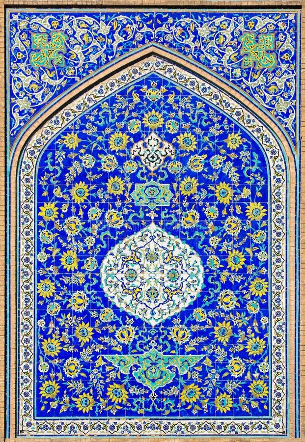 Bakgrund med orientaliska blom- prydnader arkivfoton