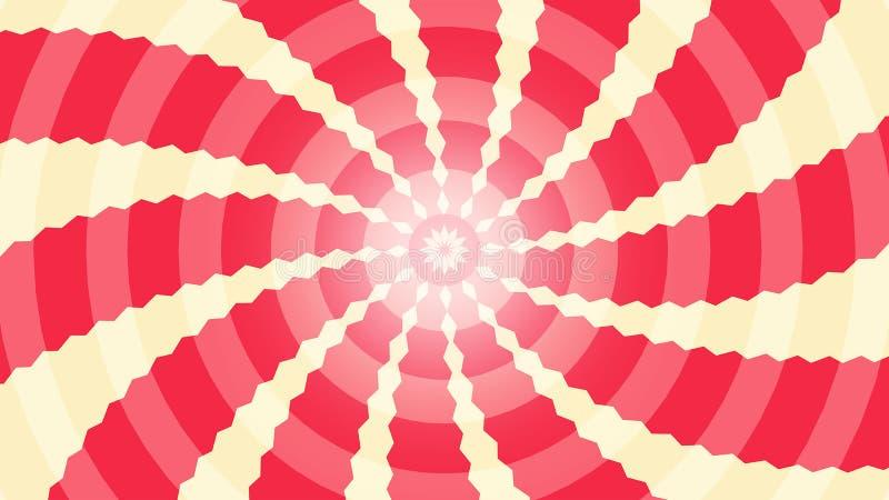Bakgrund med radiella strålar vektor illustrationer