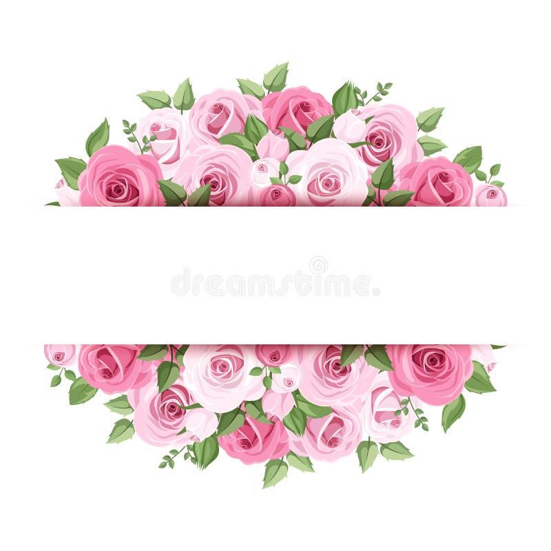 Bakgrund med rosa rosor. royaltyfri illustrationer