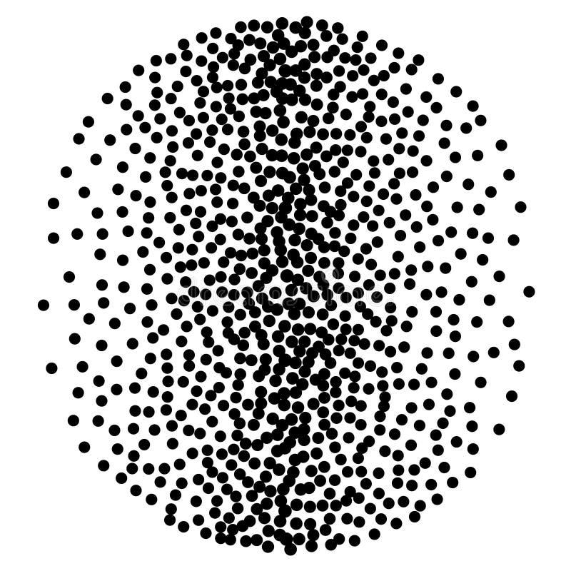 Bakgrund med slumpmässiga mörka fläckar Elegant modell med svarta prickar royaltyfri illustrationer