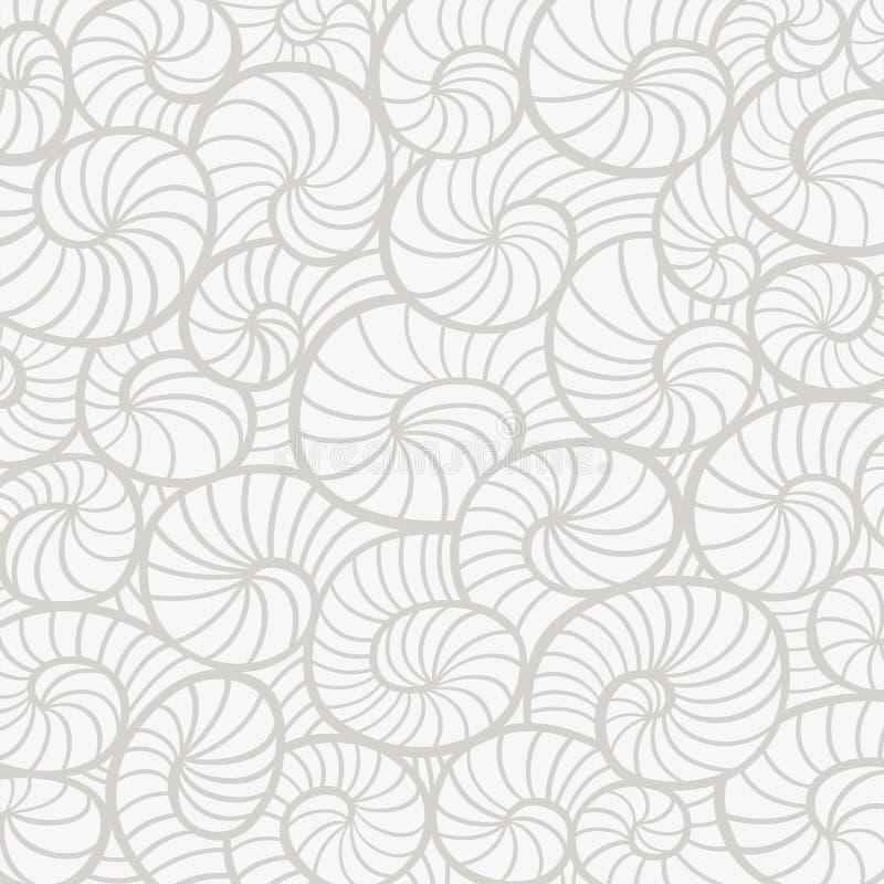 Bakgrund med snäckskal vektor illustrationer