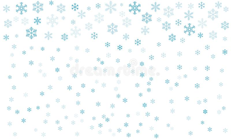 Bakgrund med Snowflakes Vektor EPS-10 royaltyfri illustrationer