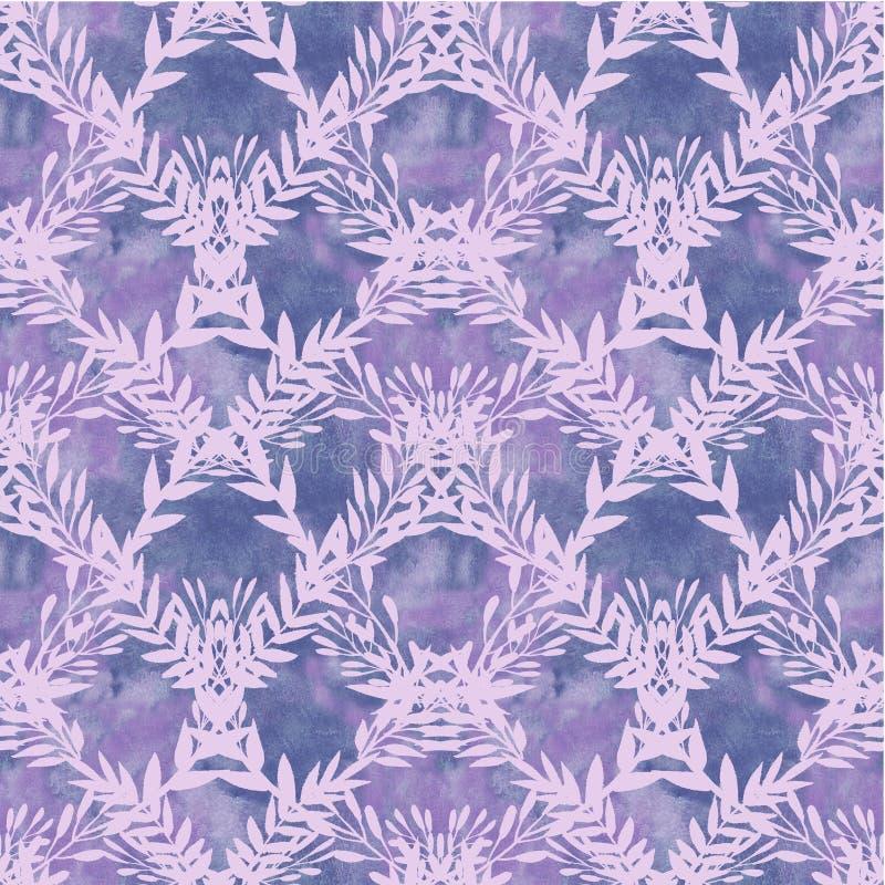 Bakgrund med violetta filialer vektor illustrationer