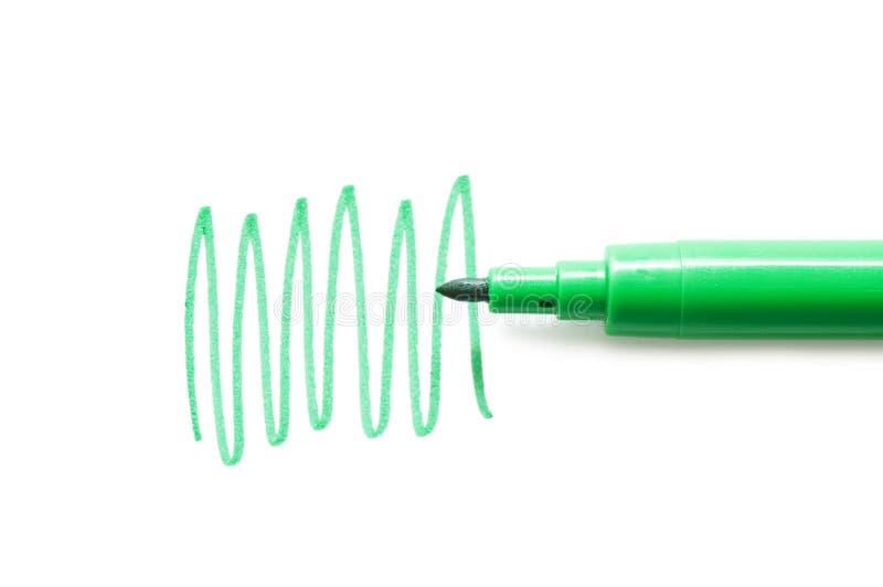 bakgrund menade grön isolerad pennspetswhite fotografering för bildbyråer