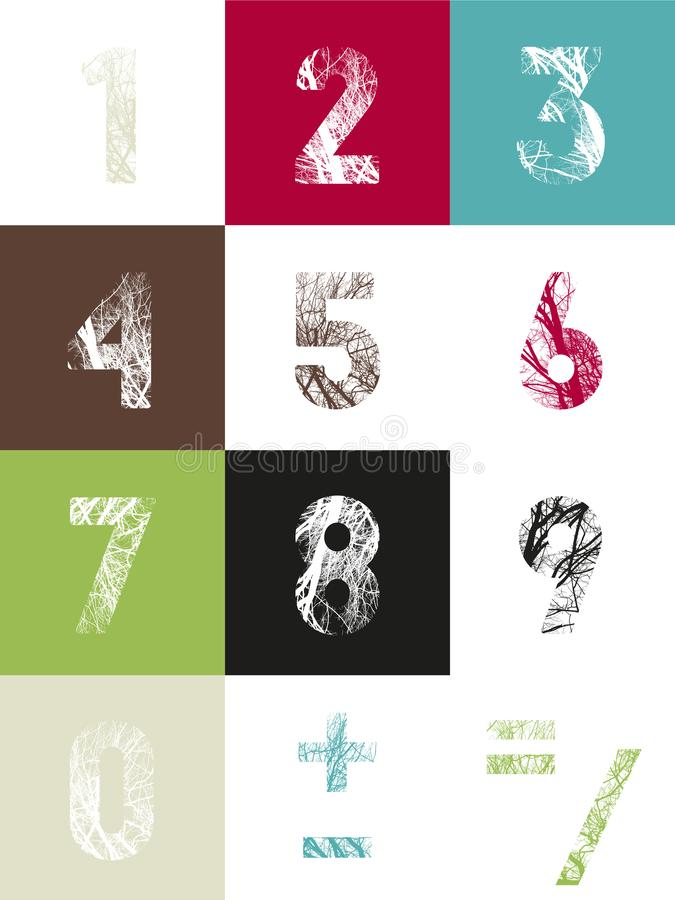 bakgrund numrerar den seamless teckenvektorn vektor illustrationer