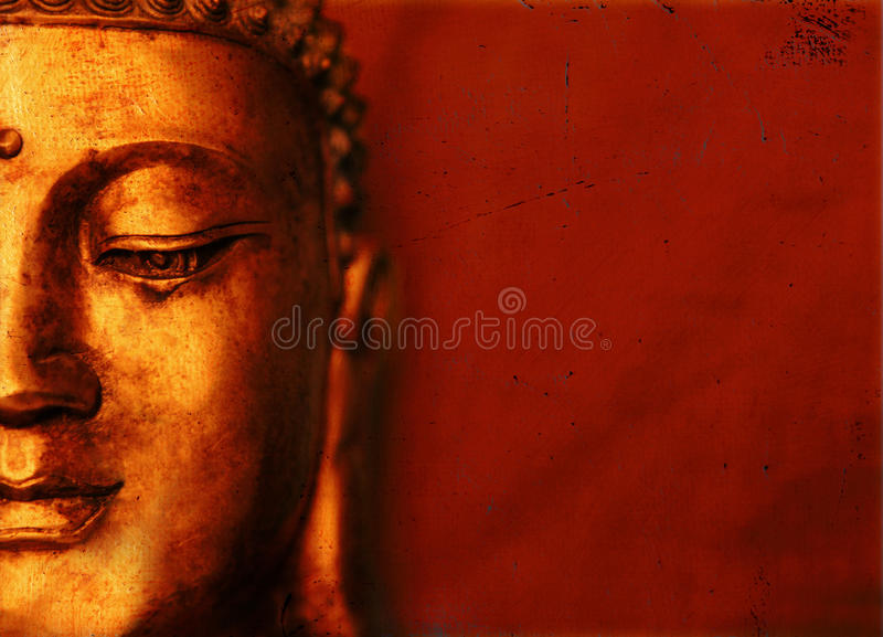 bakgrund orientaliska buddha stock illustrationer